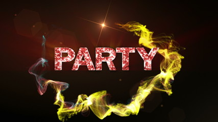 PARTY Text in Particles