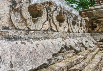 old temple wall