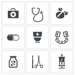 Medicine icons collection