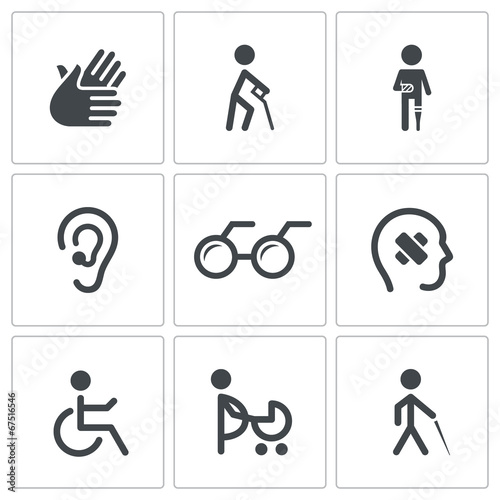 Kolekcja ikony niepełnosprawności