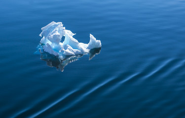 Antarctic ice floating on the sea
