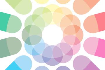 背景素材壁紙(虹色, レインボー. 七色, PR, コマーシャル, 広告, 宣伝, チラシ, 販促, 販売,文字入)