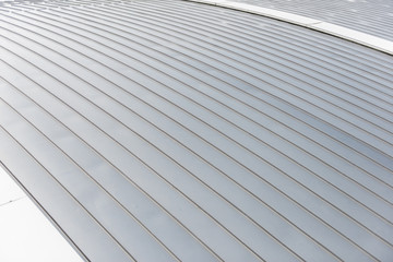 Aluminum sheet roof background