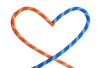 Two ropes in shape of heart