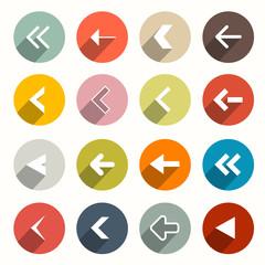 Vector Flat Design Arrows Set in Circles