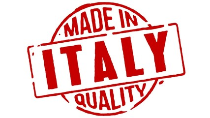 Red Rubber Stamp Made In Italy