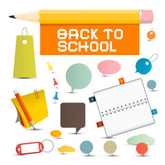 Vector Back to School Objects