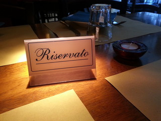 Reserved table in italian restaurant