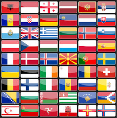 Elements of design icons flags of the countries of Europe
