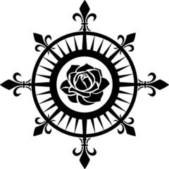 Windrose, Kompass Rose, Fleur de Lis