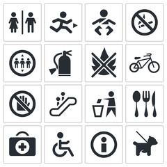 International signs icon set