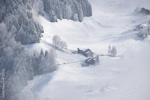 canvas print picture winter village