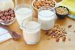 Different vegan milks. - 67521318