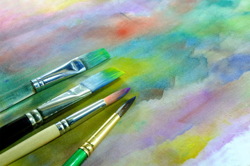 watercolor paint brushes