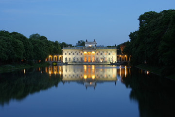 Palace on the water in Lazienki Park