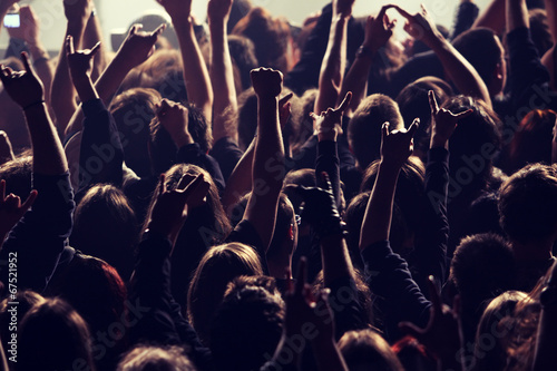 Tuinposter Uitvoering Rocking crowd