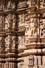 Detail of Khajuraho temple