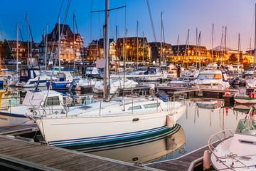Hafen von Deauville - Frankreich
