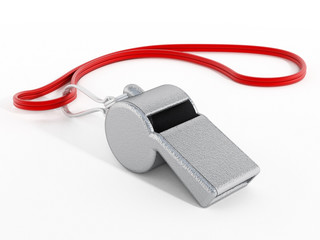 Whistle with red rope