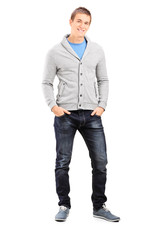 Young guy posing in casual clothes