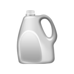 Gray plastic jerrycan ,isolated on white background