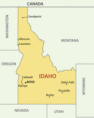 Idaho - vector map