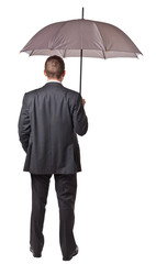 umbrella businessman