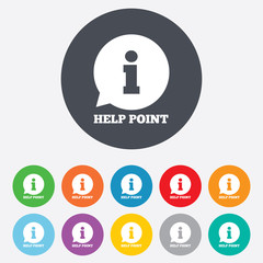 Help point sign icon. Information symbol.