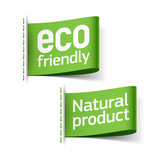 Eco friendly and Natural product labels