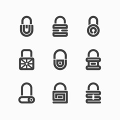 Abstract padlock icons
