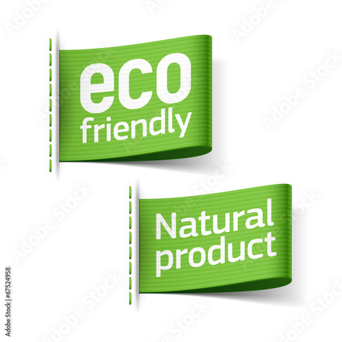 Eco friendly and Natural product labels - 67524958