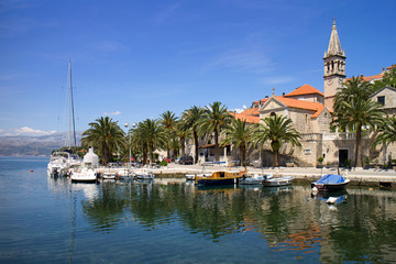 Splitska, village on north side of island Brac in Croatia