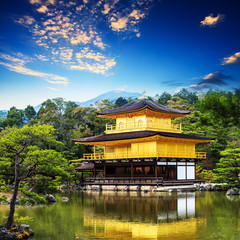 The Golden Pavilion(Kinkakuji Temple ) in Kyoto, Japan