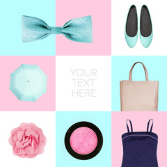 collage of contemporary fashion clothes