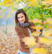 beauty girl in autumn