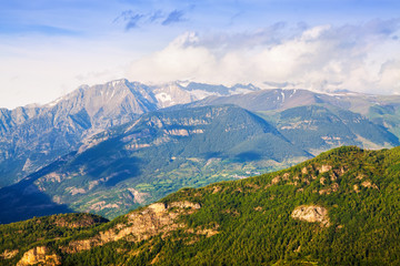 Pyrenees in sunny day. Huesca, Aragon