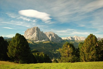 Summer landscape in Dolomites Mountains