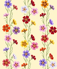 wildflowers pattern seamless
