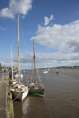 The Quay at Topsham on the River Exe in Devon England UK