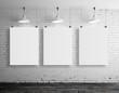 three blank frame