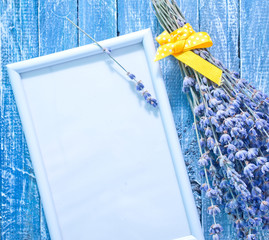 frame and lavender