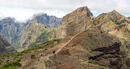 Hiking Trail near Pico do Arieiro; Madeira, Portugal