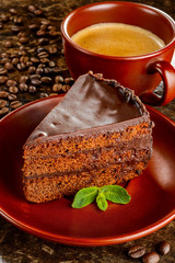 Chocolate sacher cake