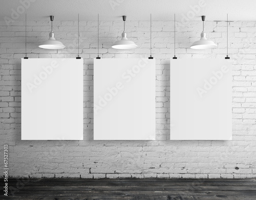 canvas print picture three blank frame