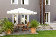beautiful patio, modern house