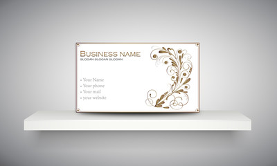 "Carte & logo ornement floral ""2"""