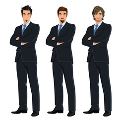 Set of business men