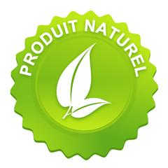 produit naturel sur bouton web denté vert