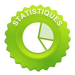 statistiques sur bouton web denté vert