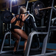 canvas print picture - Beautiful girl in the gym